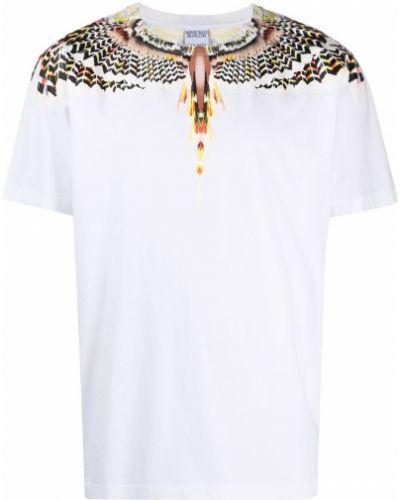 Biały t-shirt bawełniany krótki rękaw Marcelo Burlon County Of Milan