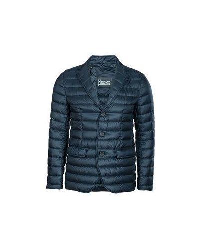 Синяя демисезонная куртка Herno