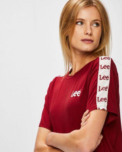 Спортивная футболка однотонная прямая Lee