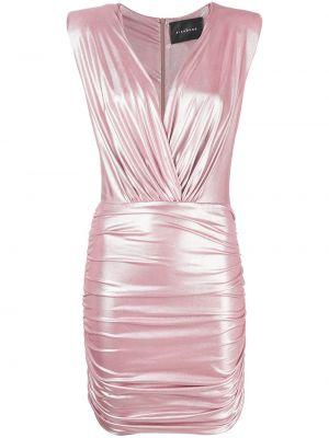 Платье с V-образным вырезом - розовое John Richmond