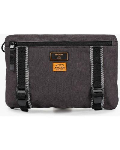 Текстильная серая поясная сумка Superdry