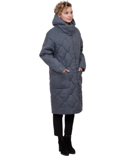 Пальто с капюшоном оверсайз на кнопках J-splash