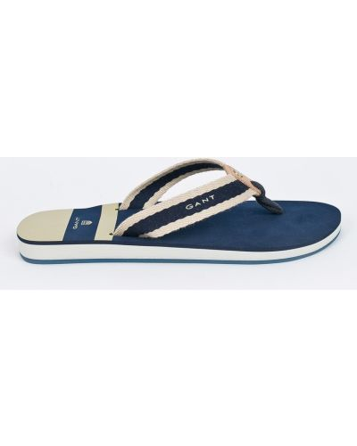 Бежевые сандалии текстильные Gant