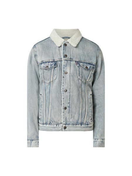 Bawełna niebieski kurtka jeansowa z mankietami z kołnierzem Levi's
