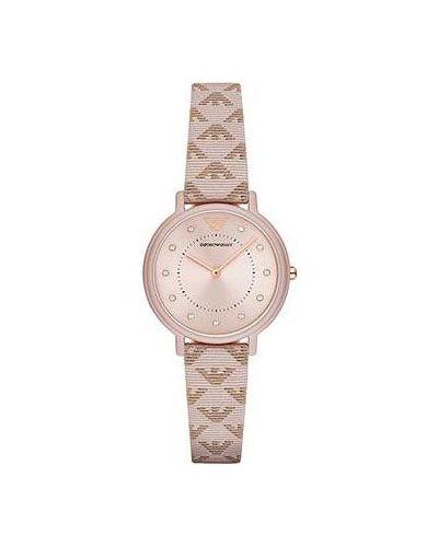 Часы на кожаном ремешке кварцевые Emporio Armani