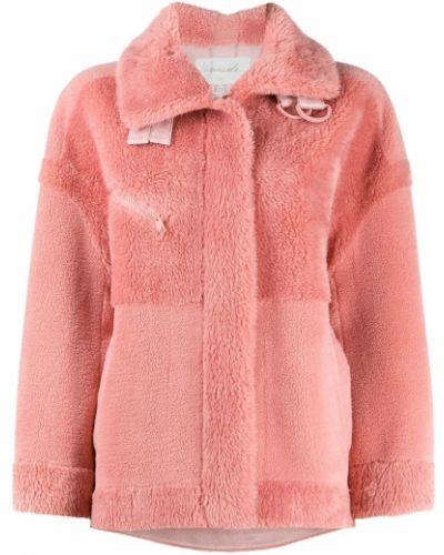 Розовая куртка с карманами с воротником с пряжкой Urbancode