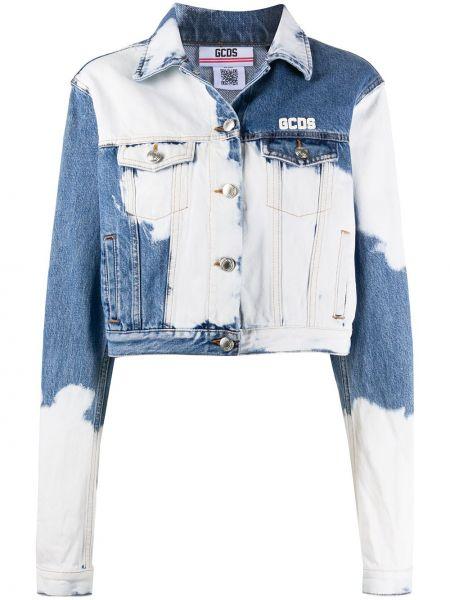 Синяя джинсовая куртка с воротником с карманами Gcds