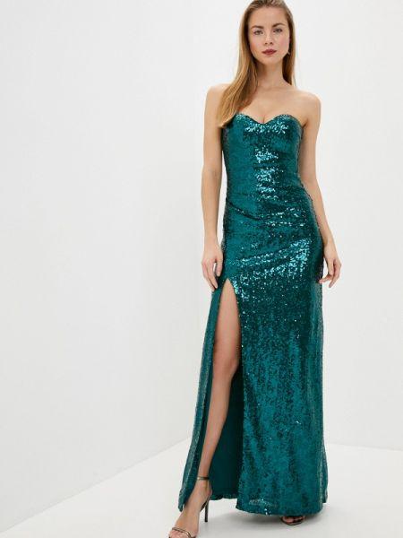 Вечернее платье зеленый весеннее Goddiva