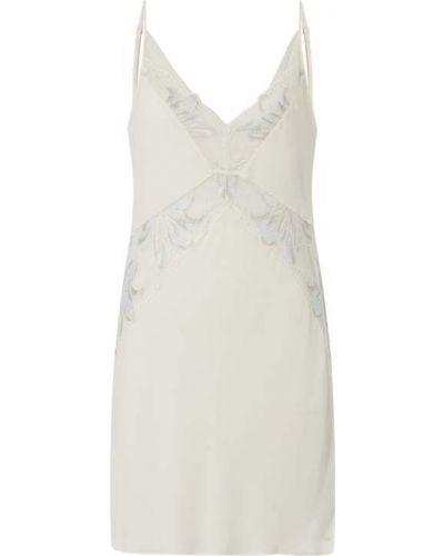 Biała koszula nocna z dekoltem w serek rozkloszowana Calvin Klein Underwear