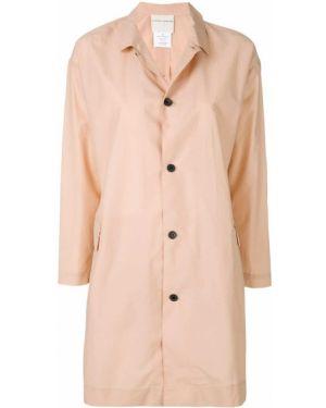 Нейлоновый розовый длинное пальто на пуговицах Stephan Schneider