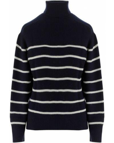 Czarny sweter w paski Parosh