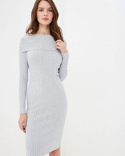 Платье серое осеннее Noisy May