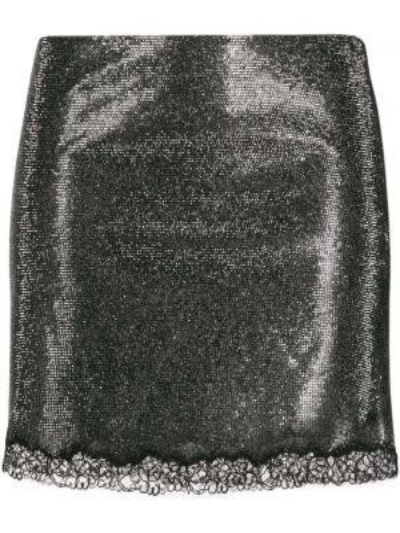Ажурная шелковая плиссированная юбка мини Philosophy Di Lorenzo Serafini