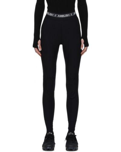 Czarne legginsy z nylonu asymetryczne Ambush