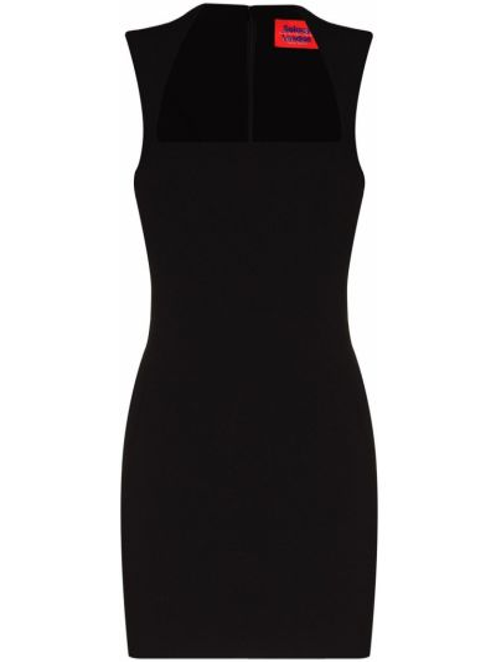 Приталенное черное платье мини без рукавов Solace London