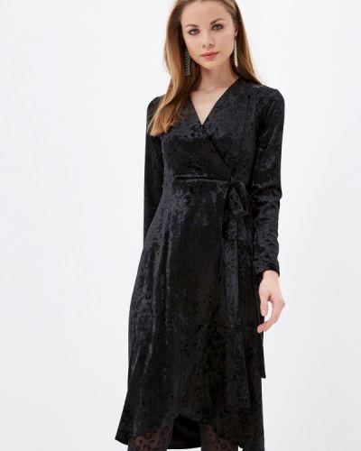 Черное платье с запахом Imocean