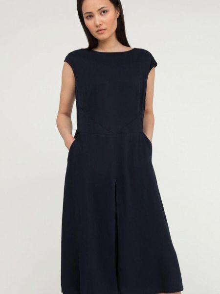 Синее свободное расклешенное повседневное платье Finn Flare