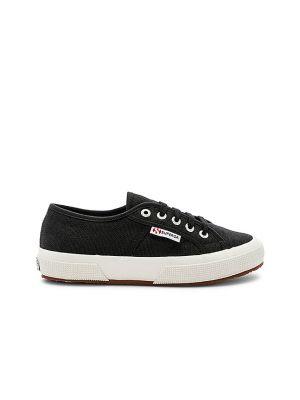 Кружевные белые кроссовки на шнурках Superga