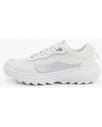 Кожаные белые кроссовки Crosby