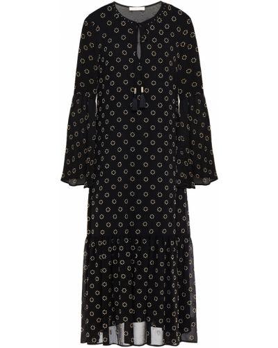 Текстильное черное платье миди Michael Michael Kors