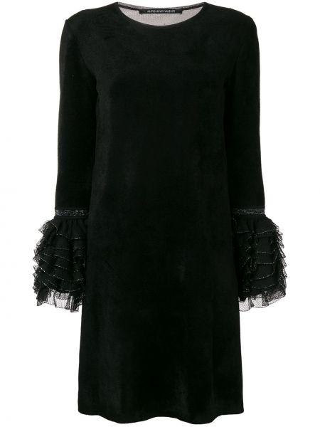 Платье макси шелковое черное Antonino Valenti