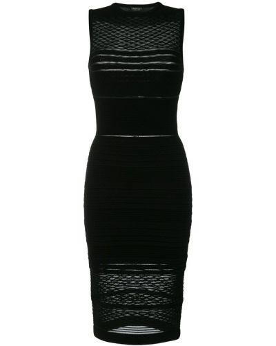 Платье миди с вышивкой приталенное Twin-set