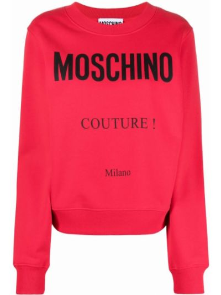 Красная свитшот с принтом Moschino