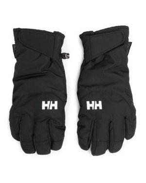 Czarne rękawiczki skorzane Helly Hansen