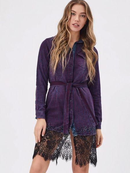 Фиолетовое платье D'she