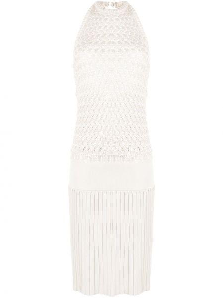 Вязаное трикотажное платье с открытой спиной Hermès