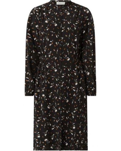 Czarna sukienka z długimi rękawami Rosemunde