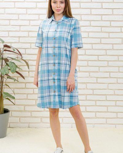 Свободное повседневное платье на пуговицах с карманами свободного кроя Lika Dress