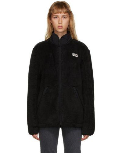 Черная длинная куртка с манжетами с воротником с карманами The North Face