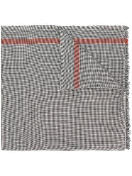 Trykotowy szalik włoski biały Gucci