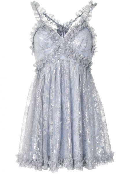 Нейлоновое платье мини с вышивкой с V-образным вырезом без рукавов Alice Mccall