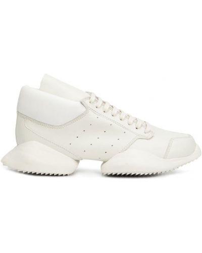 Кожаные кроссовки белый Adidas By Rick Owens