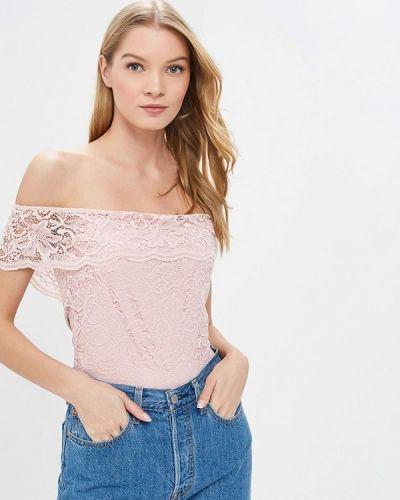 Блузка с открытыми плечами розовый 2019 Befree