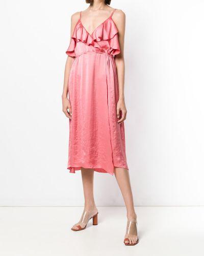 Платье миди средней длины - розовое Luisa Cerano