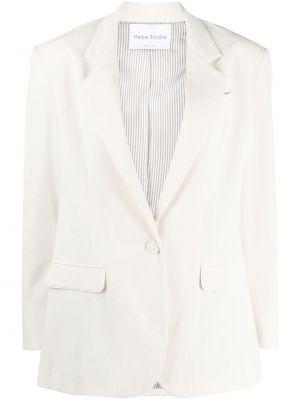 Однобортный удлиненный пиджак с карманами на пуговицах Hebe Studio