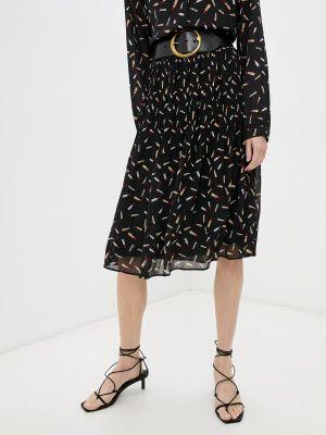 Плиссированная юбка - черная Iblues