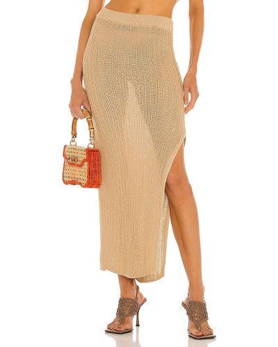 Beżowa złota spódnica Camila Coelho