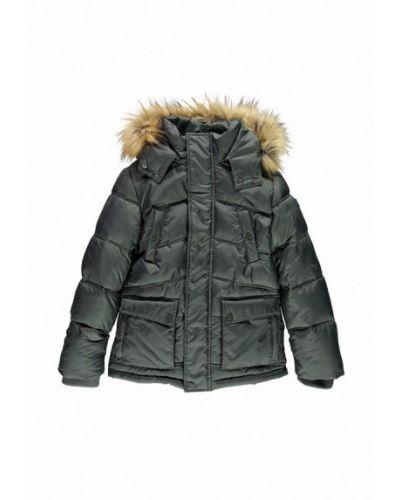Зеленая куртка теплая Mek