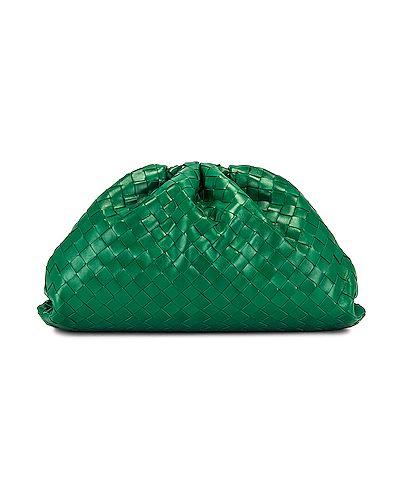 Zielona złota kopertówka Bottega Veneta