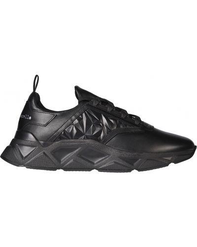 Кожаные кроссовки - черные Frankie Morello