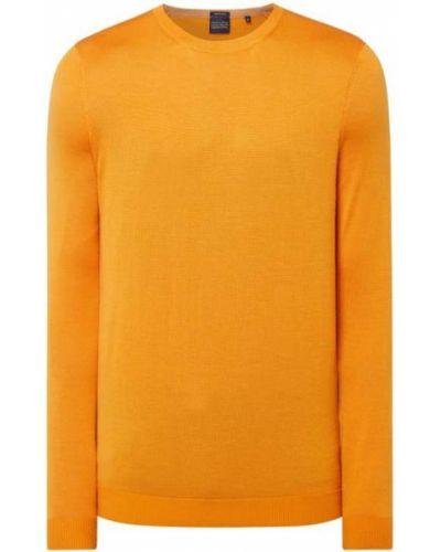 Prążkowany pomarańczowy sweter wełniany Christian Berg Men