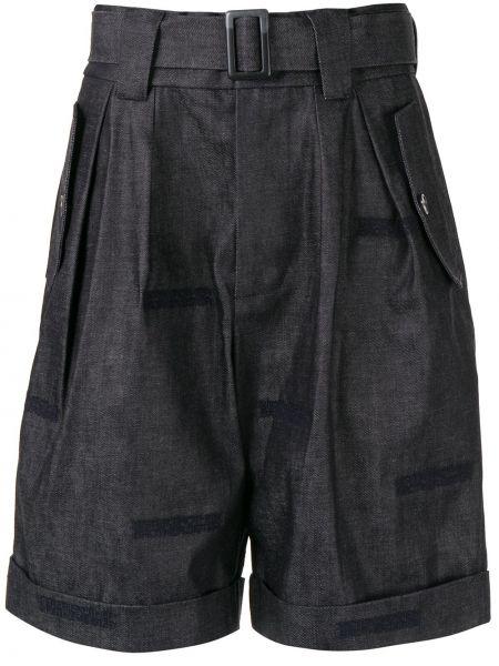 Джинсовые шорты короткие с завышенной талией Fengchen Wang