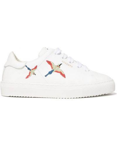 Buty sportowe skorzane - białe Axel Arigato