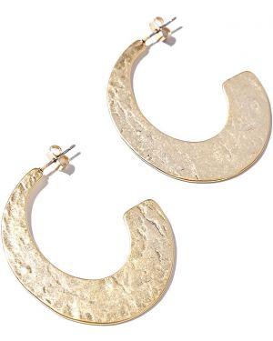 Золотые серьги серьги-кольца позолоченные Exclaim