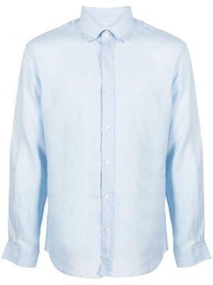 Niebieska koszula zapinane na guziki perły Bluemint