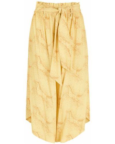 Желтые брюки с поясом из вискозы НК
